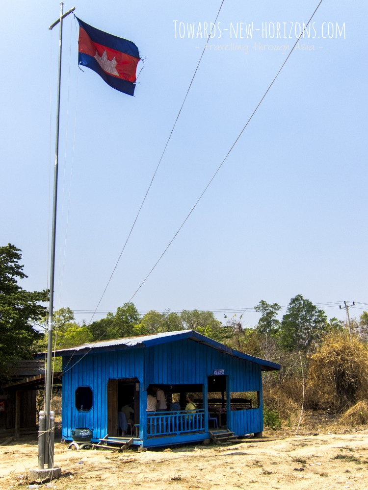 The actual VISA office at the cambodian Border